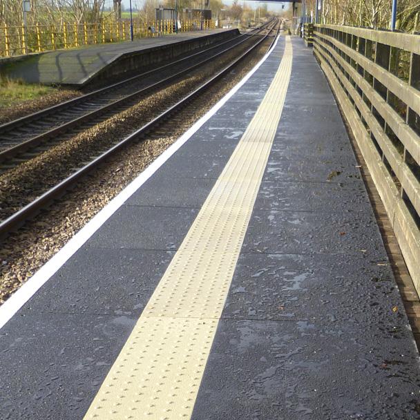 Evergrip GRP Railway Platform Overlay Panel Surfacing