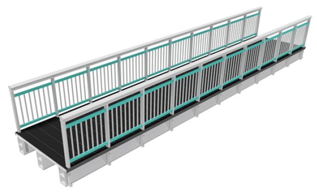 Fiberline Modular Fibreglass Pedestrian Scalable Bridge Model