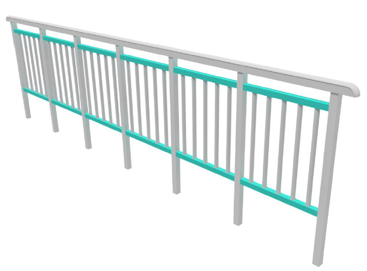 Fiberline Modular GRP Handrail Example