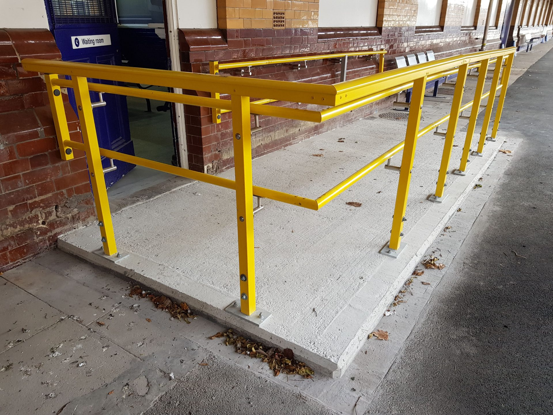 Fibreglass Handrail ramped waiting room access Equality Act