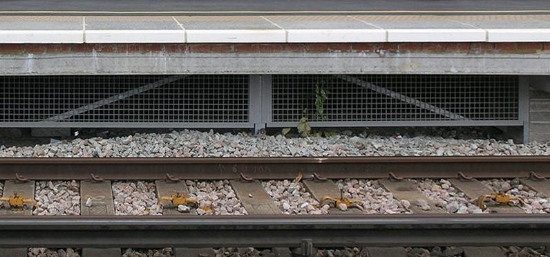 Railway Platform Fibreglass debris litter guards