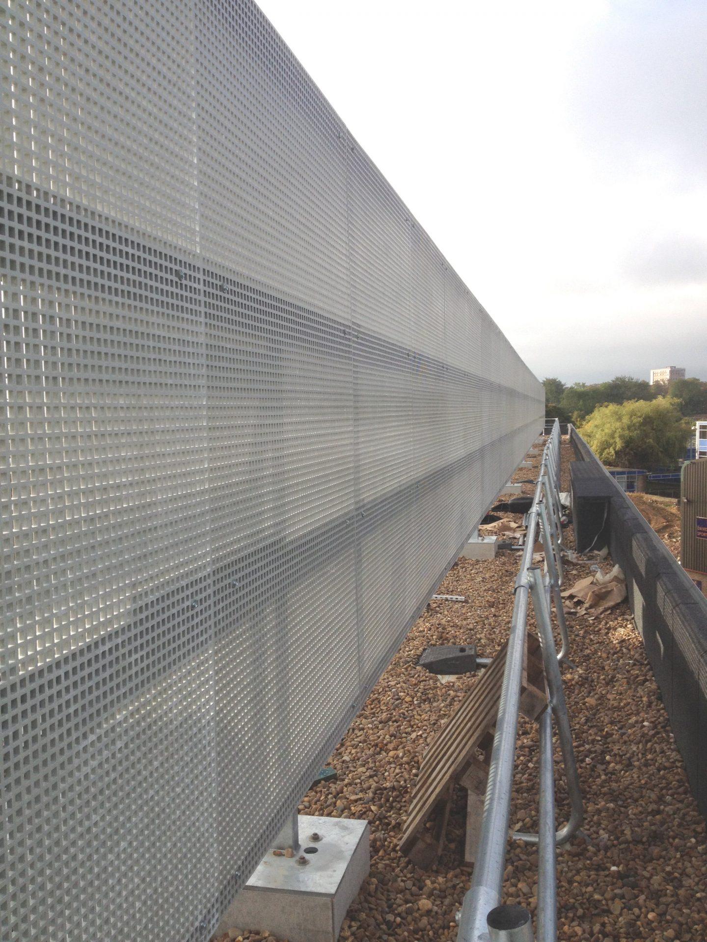 Fibreglass mesh air conditioning screening