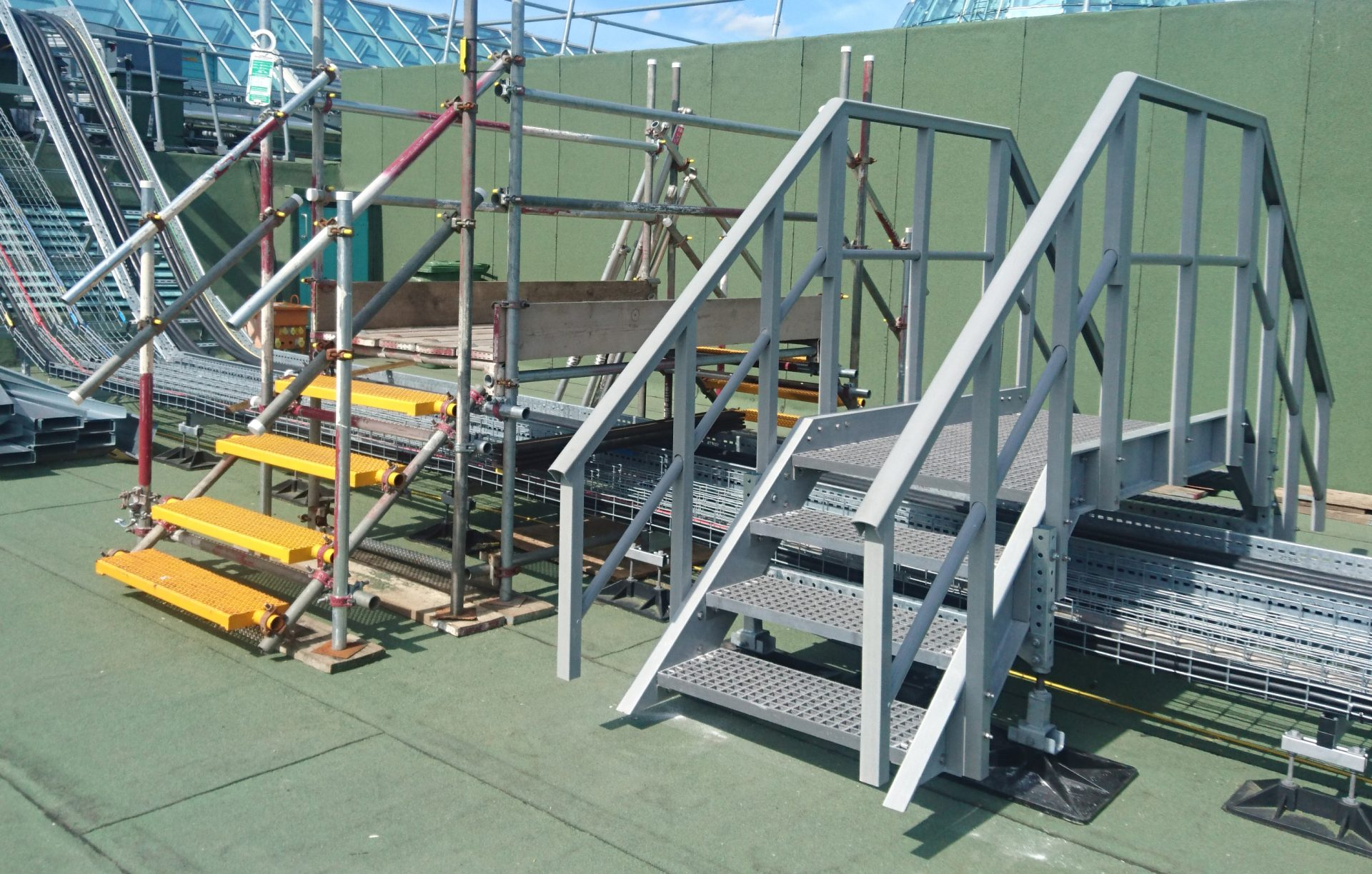 Fibreglass permanent roof safe access steps
