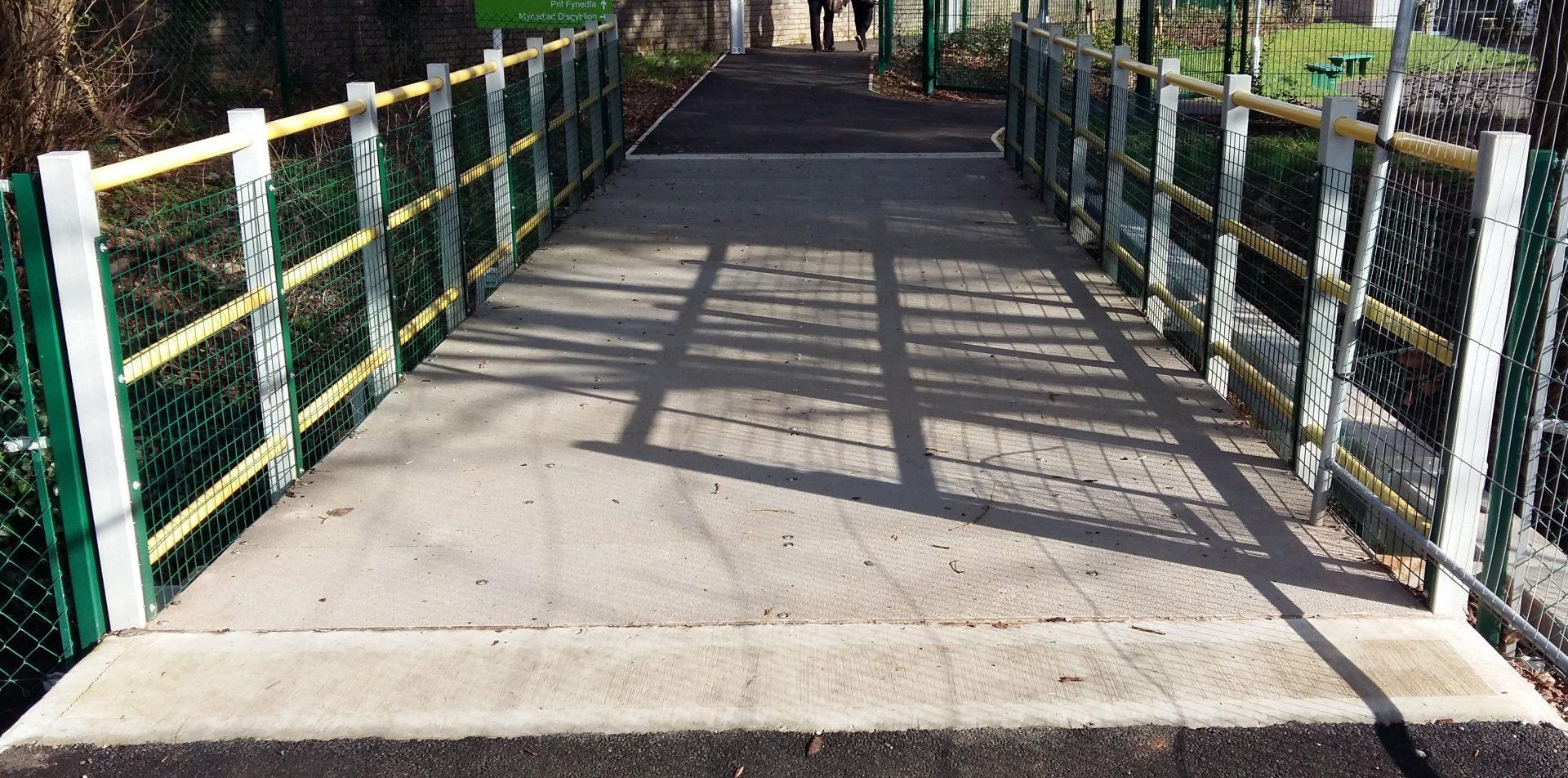 GRP 8.5m span Pedestrian Footbridge