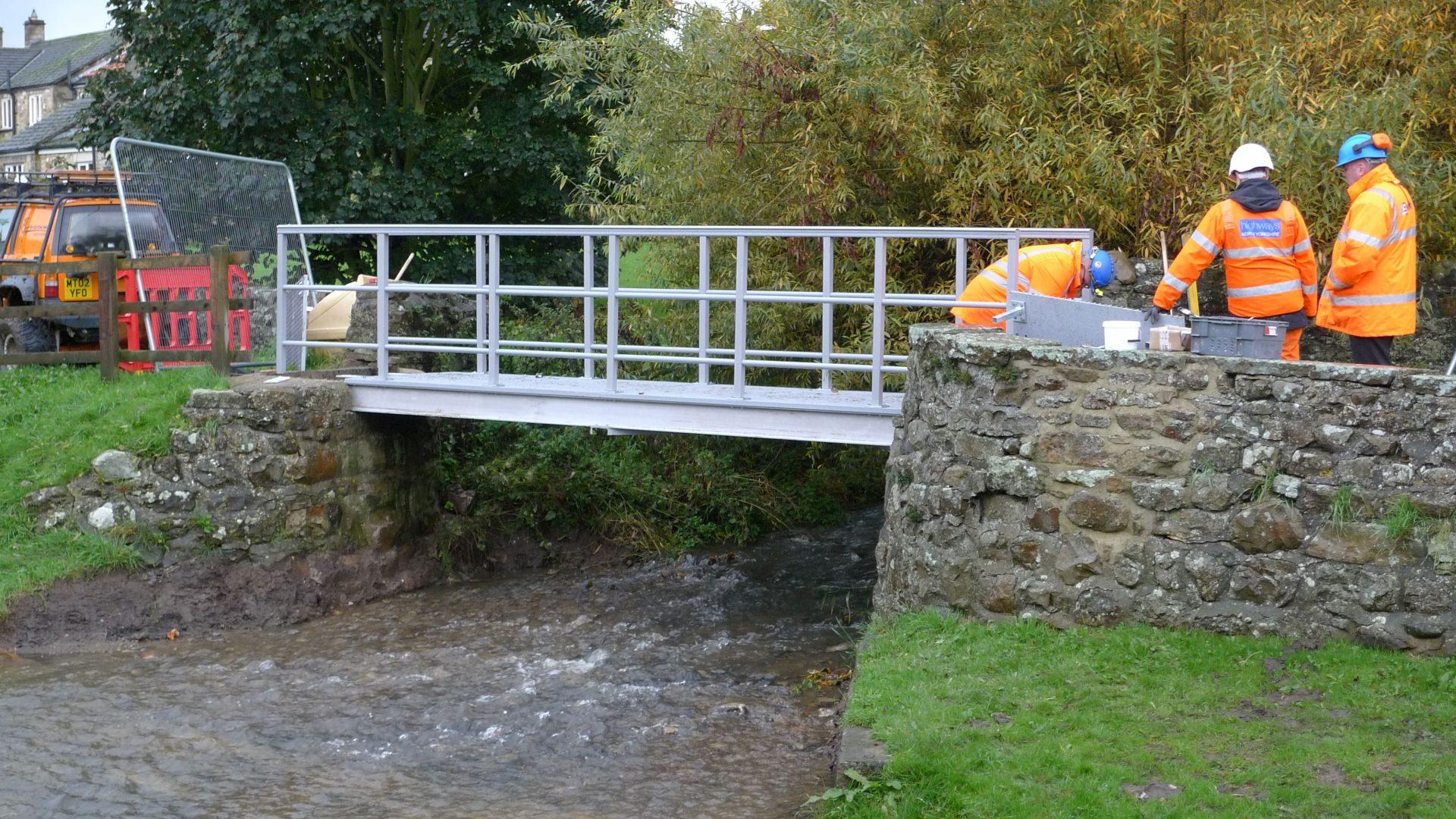 GRP Pedestrian Bridge Installation