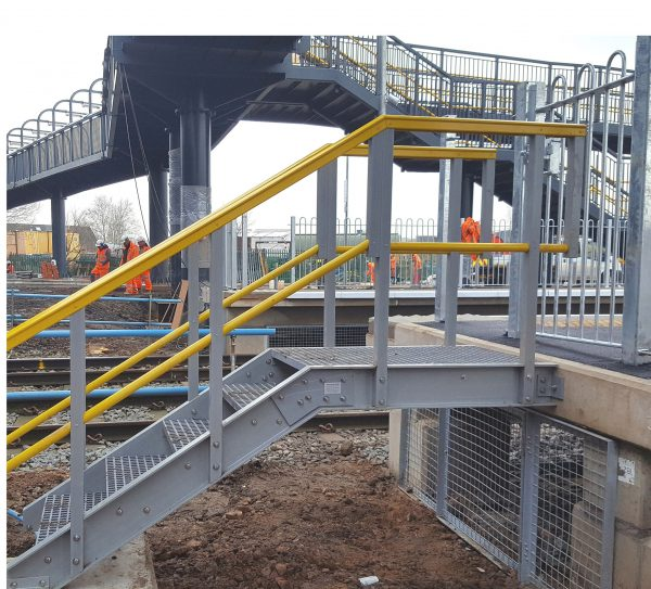GRP Platform End Access Stairs