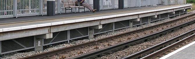 GRP Railway Platform debris litter guard mesh