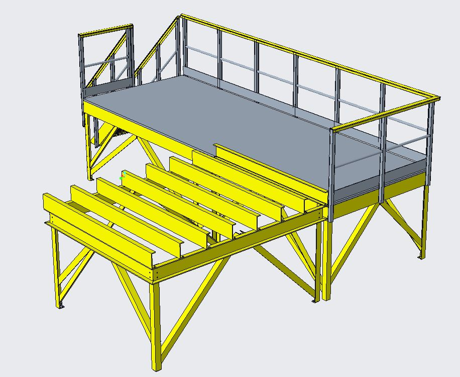 GRP access platform design proposal water industry