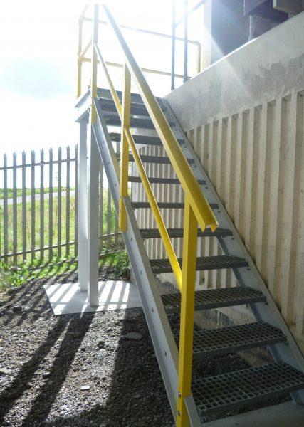 GRP bridge maintenance fixed access stairs