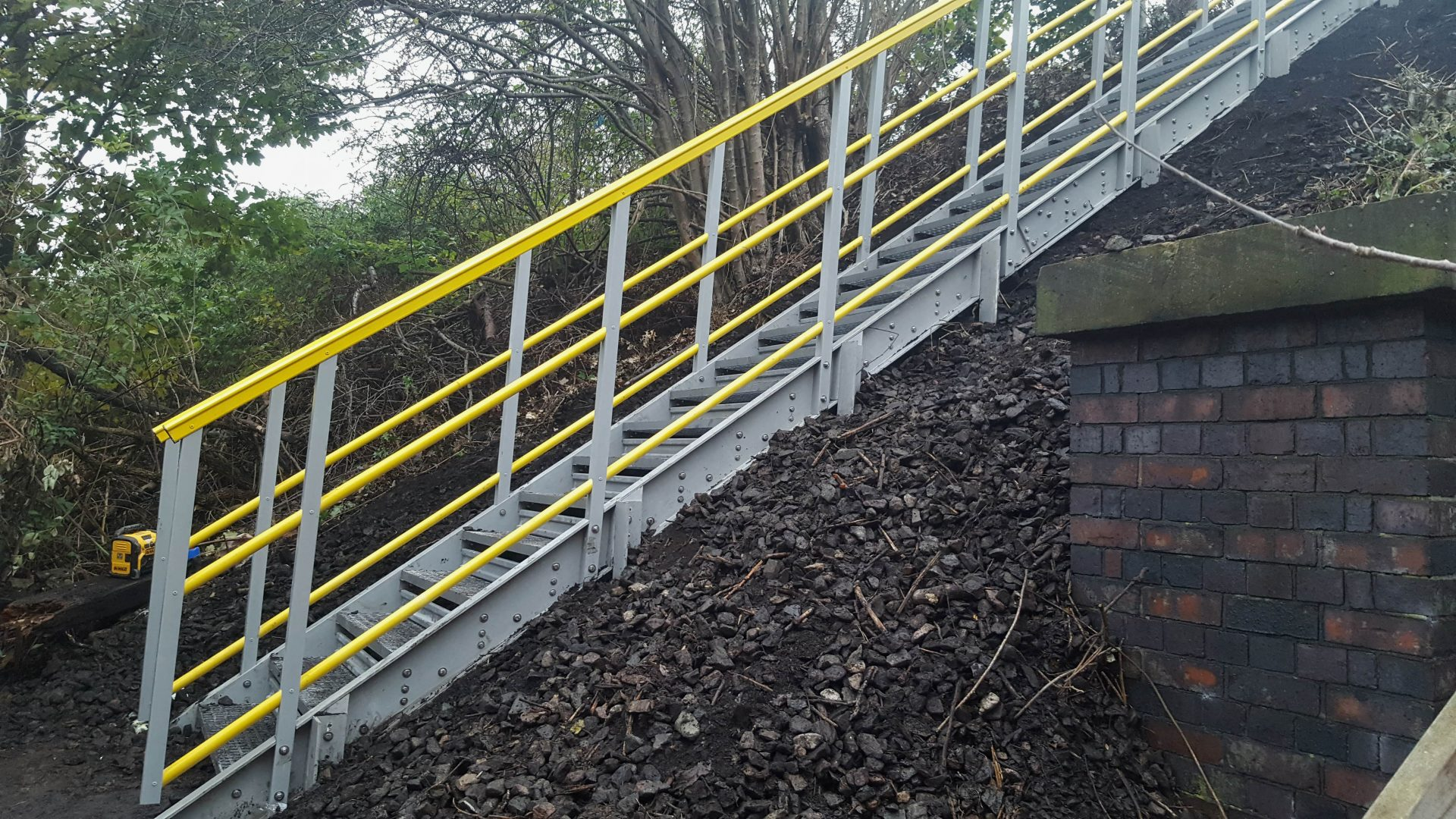 GRP embankment stairs for railway trackside access