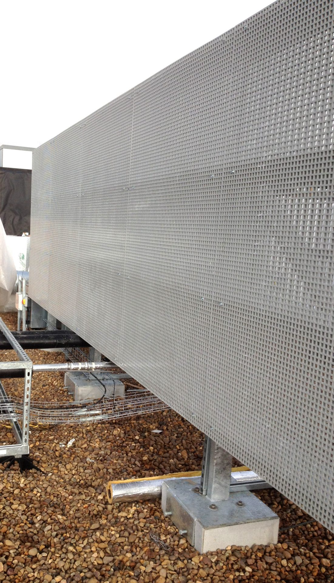 GRP mesh rooftop mecha services scr