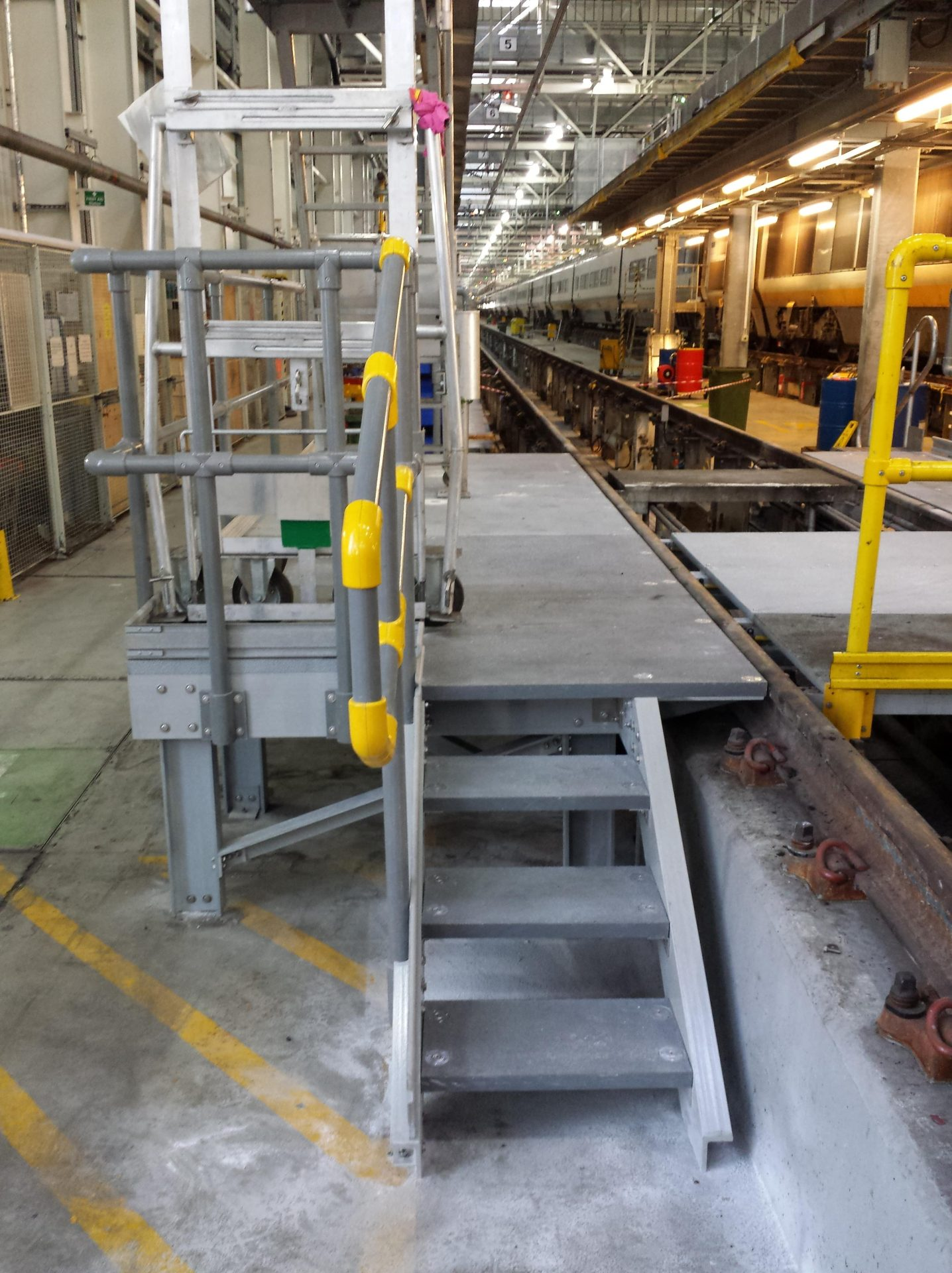 GRP railway maintenance platform - radio transparent