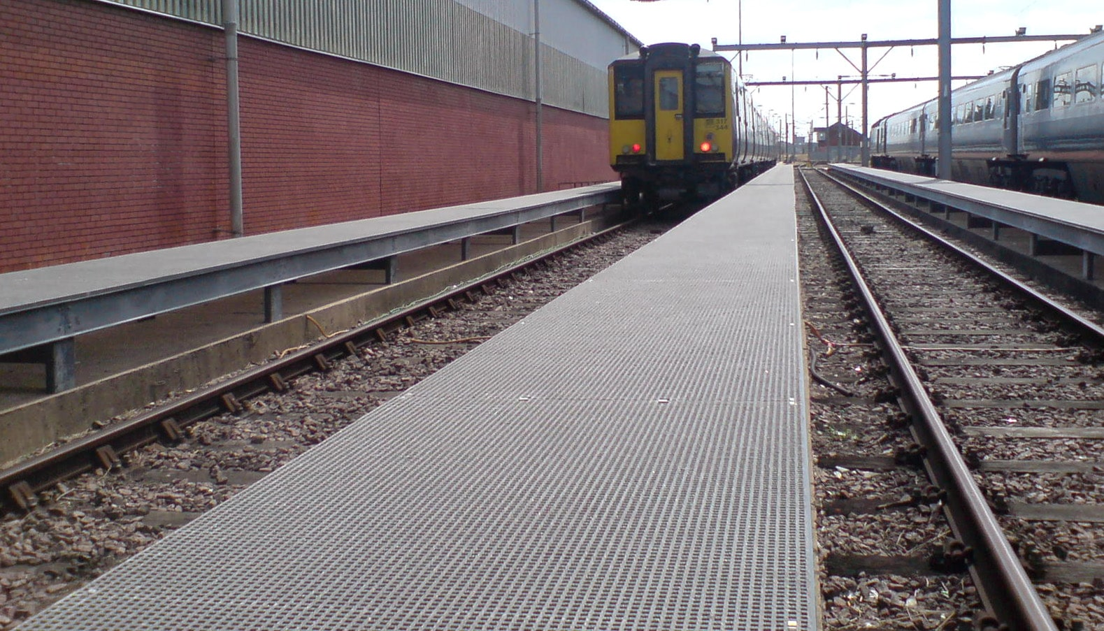 GRP raised access walkways train depot