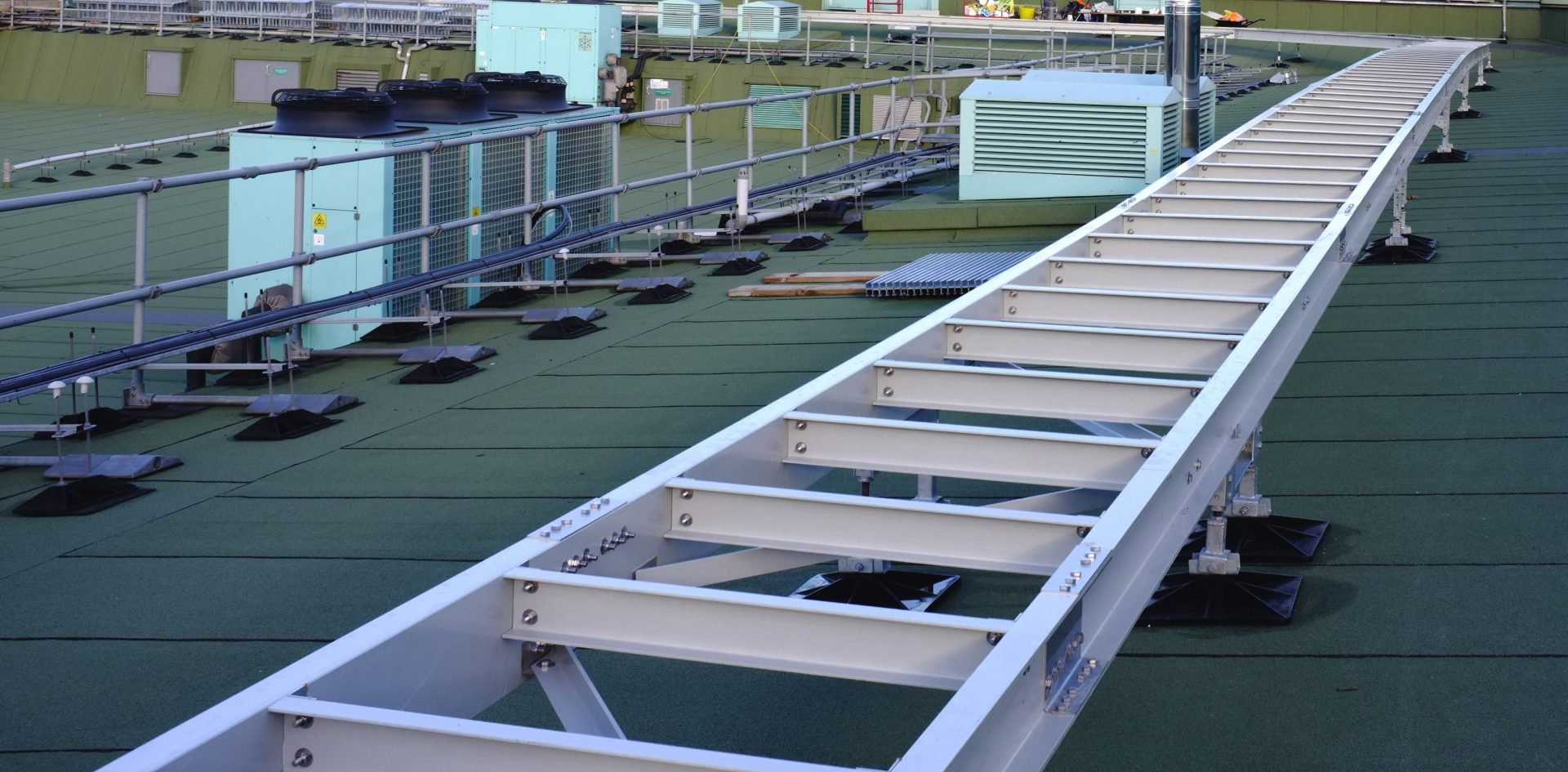 GRP rooftop mechanical electrical services raceway rack tray