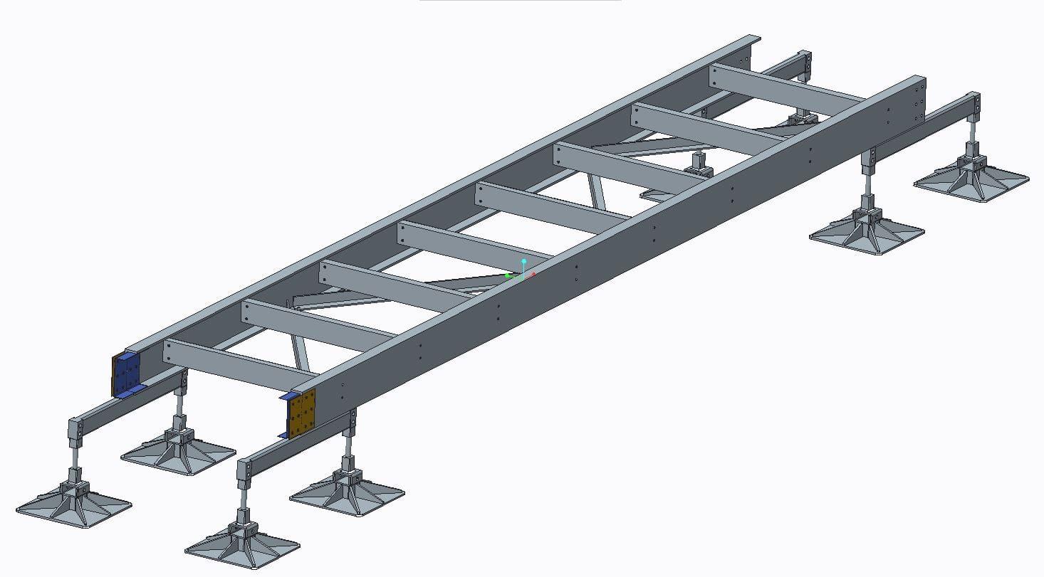 GRP service raceway support structure design concept