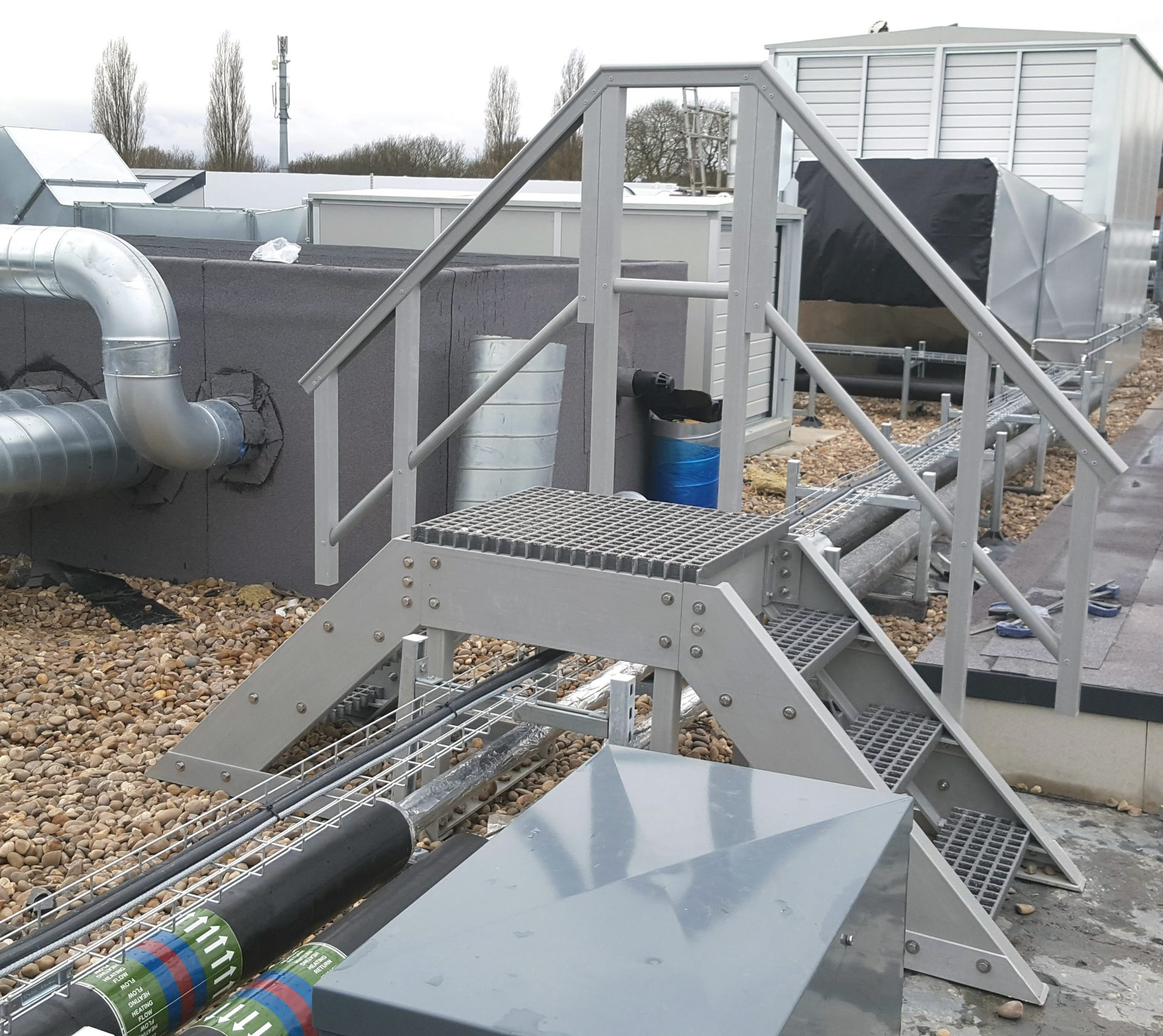 GRP step up and over safe access roof services