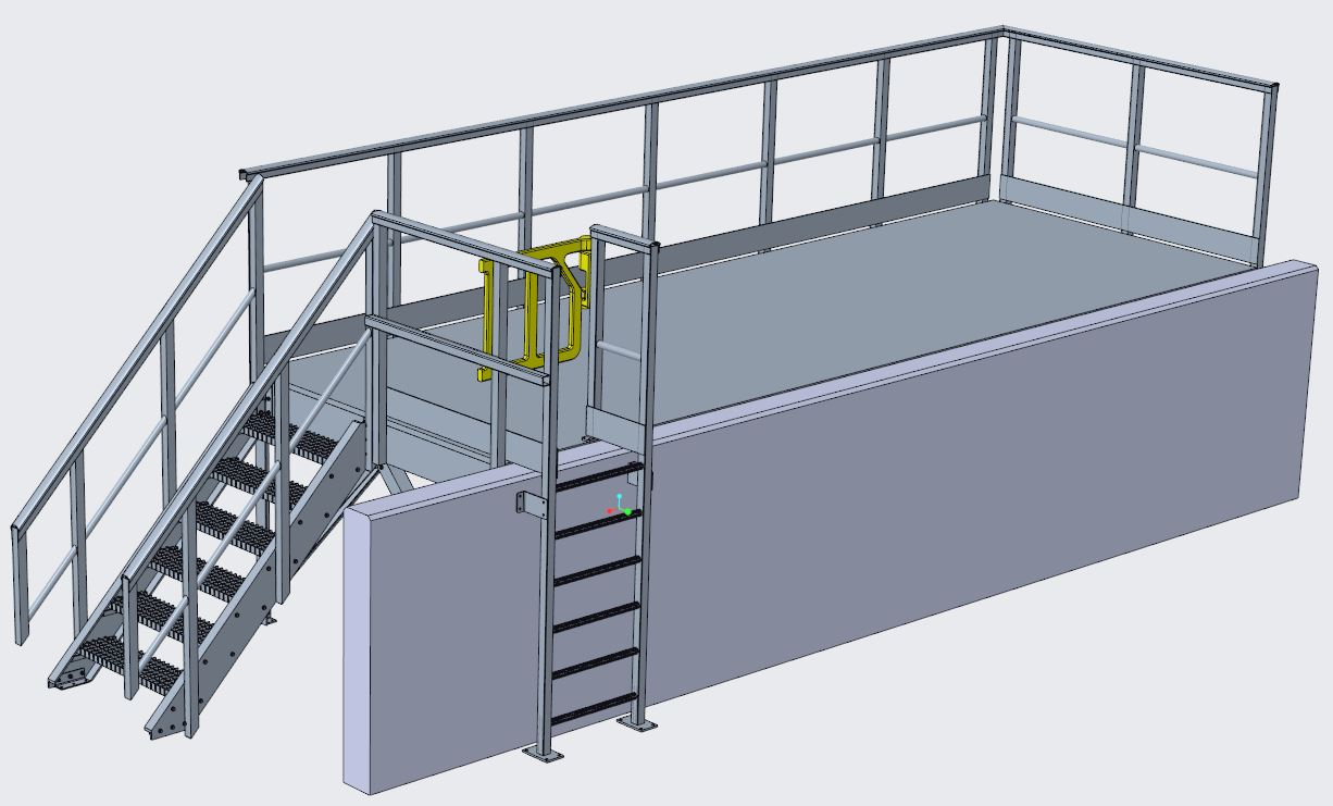 Glass Fibre Composite Access Platform Design
