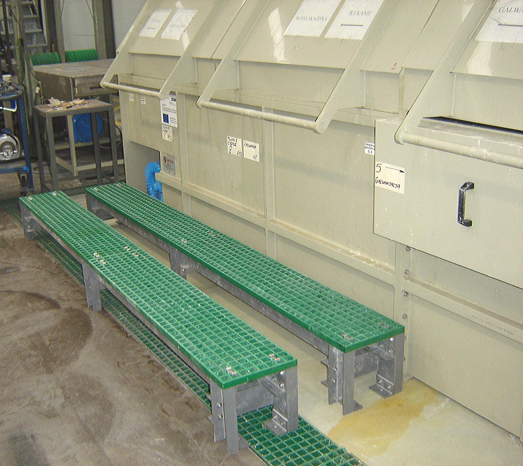 Machinery access custom made GRP step ups