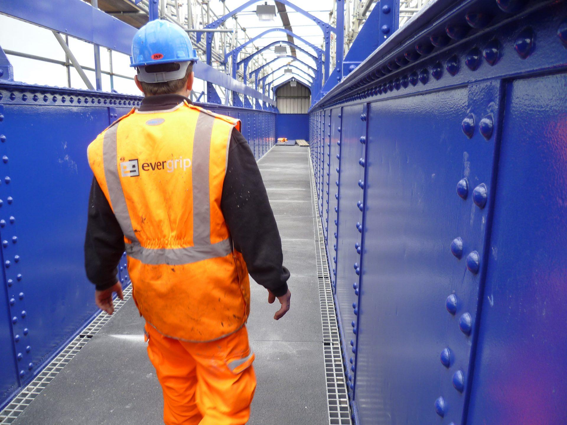 Pedestrian footbridge refurbishment all GRP walkway