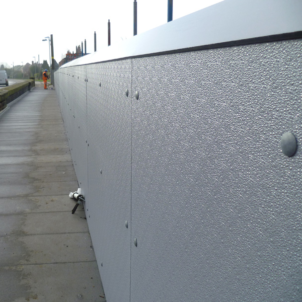 Road bridge parapet fibreglass cladding panels and capping