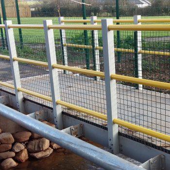 Fibreglass 3.7m span Pedestrian Footbridge