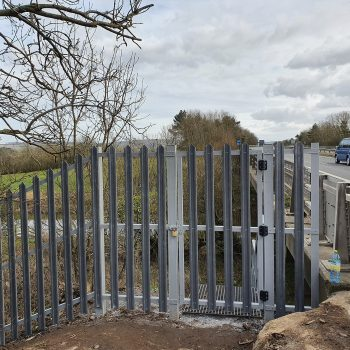 Fibreglass security gate and fencing segregated river access