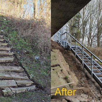 Prefabricated GRP Embankment Steps