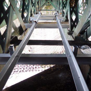 Viaduct GRP Walkway sub-frame under construction