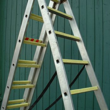 Slip Resistant Ladder Grips Installed On Ladder