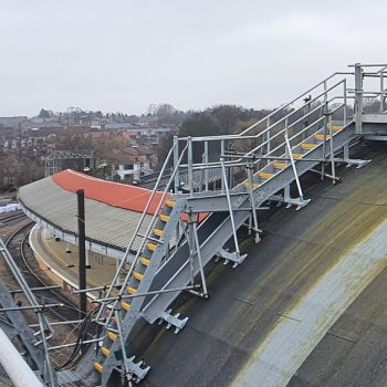 Roof walkway fitted at York train station
