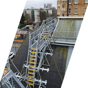 Safe access to station rooftop
